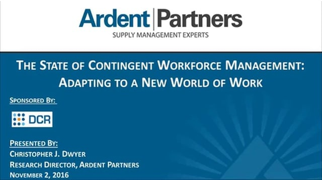 DCR  Ardent Webinar - Adapting to a New World of Work The Current State of CWM 20161102